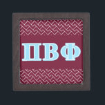 "Pi Beta Phi Blue Letters Jewelry Box<br><div class=""desc"">Check out these official Pi Beta Phi designs! Personalize your own Greek merchandise on Zazzle.com! Click the Customize button to insert your own name, class year, or club to make a unique product. Try adding text using various fonts &amp; view a preview of your design! Zazzle&#39;s easy to customize products...</div>"