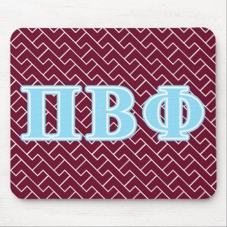 Pi Beta Phi Blue Letters Mouse Pad