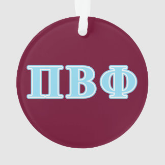 Pi Beta Phi Blue Letters Ornament