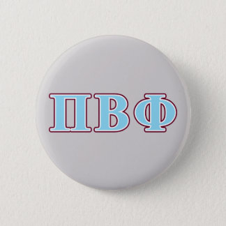 Pi Beta Phi Maroon and Blue Letters Button