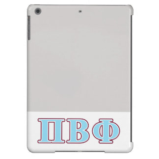 Pi Beta Phi Maroon and Blue Letters iPad Air Cases
