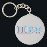 "Pi Beta Phi Maroon and Blue Letters Keychain<br><div class=""desc"">Check out these official Pi Beta Phi designs! Personalize your own Greek merchandise on Zazzle.com! Click the Customize button to insert your own name, class year, or club to make a unique product. Try adding text using various fonts &amp; view a preview of your design! Zazzle&#39;s easy to customize products...</div>"