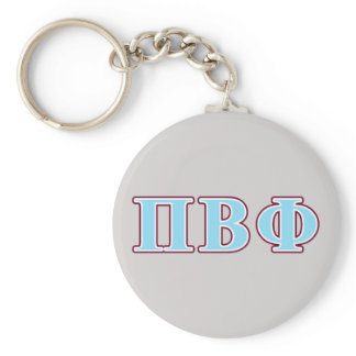 Pi Beta Phi Maroon and Blue Letters Keychain