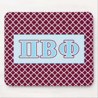 Pi Beta Phi Maroon and Blue Letters Mouse Pads