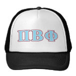 Pi Beta Phi Maroon and Blue Letters Trucker Hat