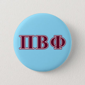 Pi Beta Phi Maroon Letters Button