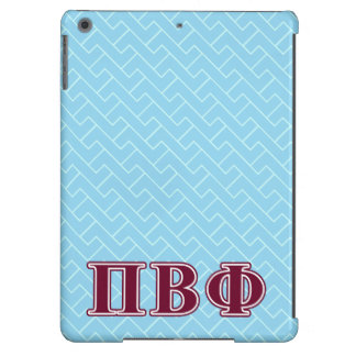 Pi Beta Phi Maroon Letters iPad Air Cases