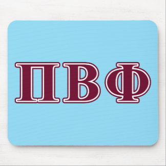 Pi Beta Phi Maroon Letters Mouse Pads