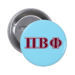 Pi Beta Phi Maroon Letters Pinback Button