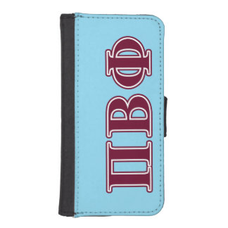 Pi Beta Phi Maroon Letters iPhone 5 Wallet Case