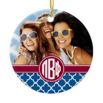 Pi Beta Phi | Monogram and Photo Ceramic Ornament