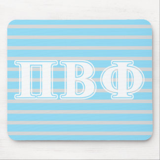 Pi Beta Phi White and Blue Letters Mousepad