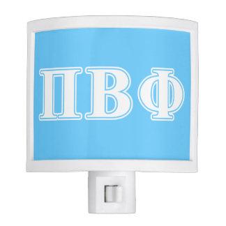 Pi Beta Phi White and Blue Letters Night Light