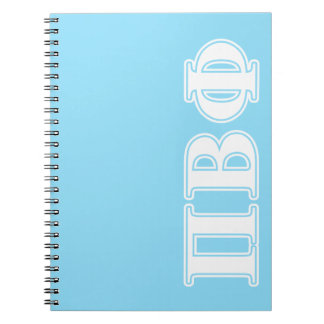 Pi Beta Phi White and Blue Letters Notebooks