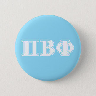Pi Beta Phi White and Blue Letters Pinback Button