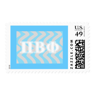 Pi Beta Phi White and Blue Letters Postage