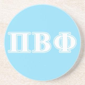 Pi Beta Phi White and Blue Letters Sandstone Coaster