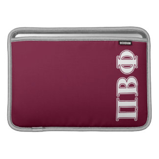 Pi Beta Phi White and Maroon Letters MacBook Sleeves