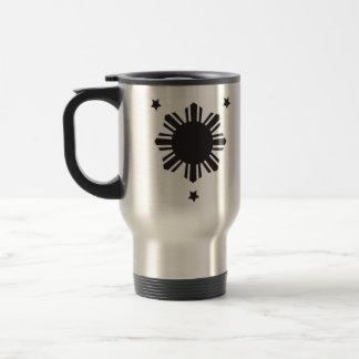 PI Black Sun and Star Travel Mug