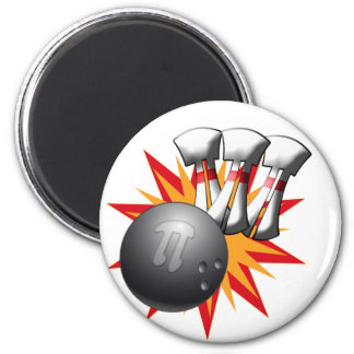PI BOWLER - PLAY OFF BI POLAR - SPORTS/ MATH HUMOR MAGNET