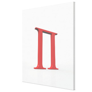 Pi Stretched Canvas Prints