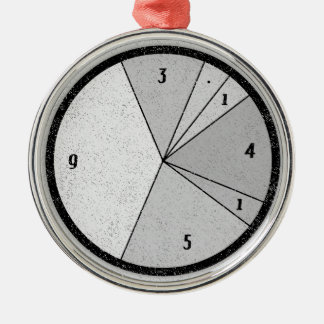 PI Chart Metal Ornament