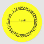 Pi Circle 1 Lemon Sticker Sticker