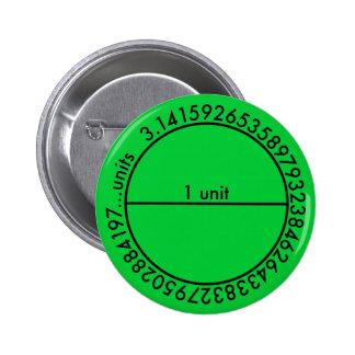 Pi Circle 2 Inch Round Button