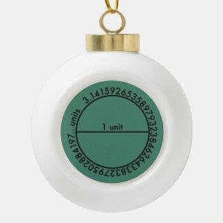 Pi Circle Ceramic Ball Christmas Ornament