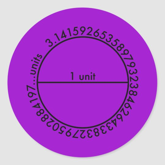 Pi Circle Classic Round Sticker