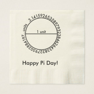 Pi Circle Coined Luncheon Napkin