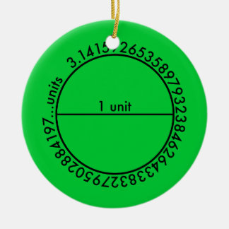 Pi Circle Double-Sided Ceramic Round Christmas Ornament