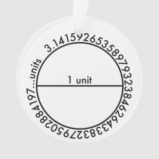 Pi Circle Ornament