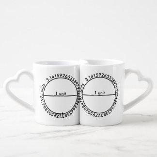 Pi Circle Couples' Coffee Mug Set