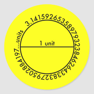 Pi Circle Round Stickers