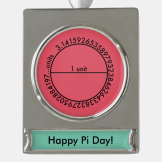 Pi Circle Silver Plated Banner Ornament