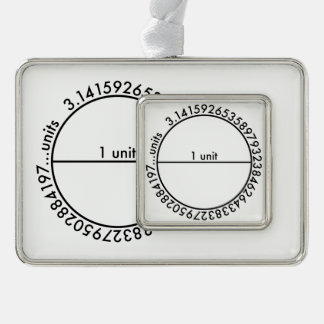 Pi Circle Silver Plated Framed Ornament