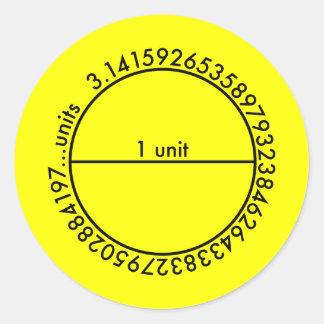 Pi Circle Classic Round Sticker