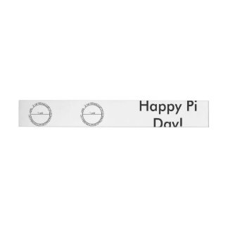 Pi Circle Wraparound Address Label