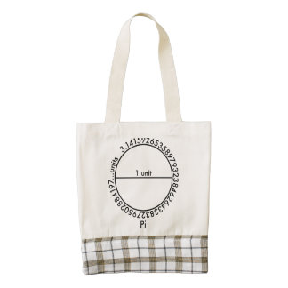 Pi Circle Zazzle HEART Tote Bag
