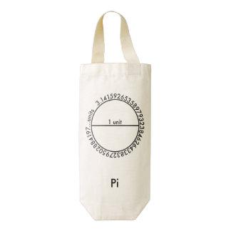 Pi Circle Zazzle HEART Wine Bag