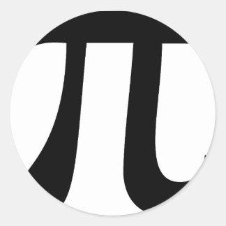 Pi Classic Round Sticker