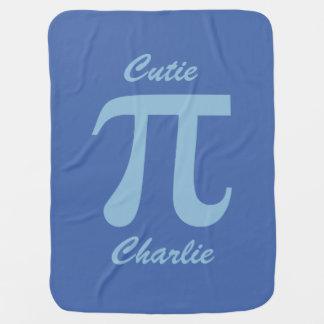 Pi / Cutie Pie custom text baby blanket