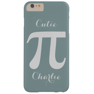 Pi / Cutie Pie custom text phone cases Barely There iPhone 6 Plus Case