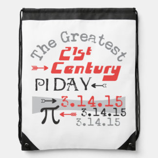 Pi Day 2015 - 21st Century Greatest Drawstring Backpack