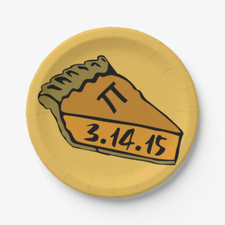 Pi day 2015 7 inch paper plate