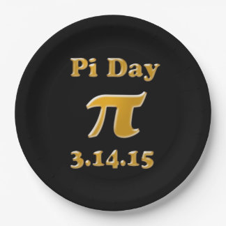 Pi Day 2015 9 inch Paper Plates
