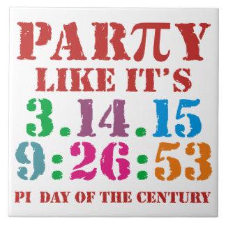 Pi day 2015 ceramic tile  3.14.15 9:26:53