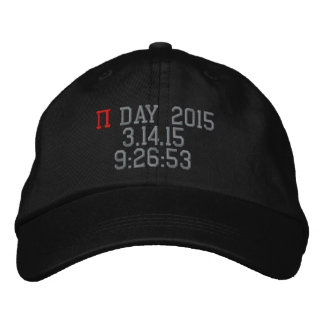 Pi Day 2015 Embroidered Baseball Cap