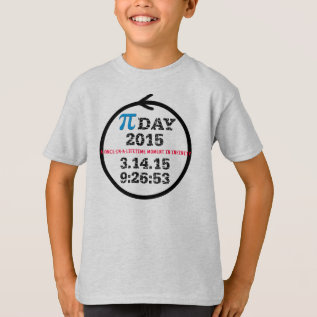 Pi Day 2015 (kids tshirt M) at Zazzle